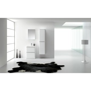 Eviva Glazzy 24-inch High Glossy White Floor Mount Modern Bathroom Vanity