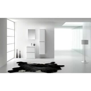 Eviva Glazzy 24-inch High Glossy White Floor Mount Modern Bathroom Vanity