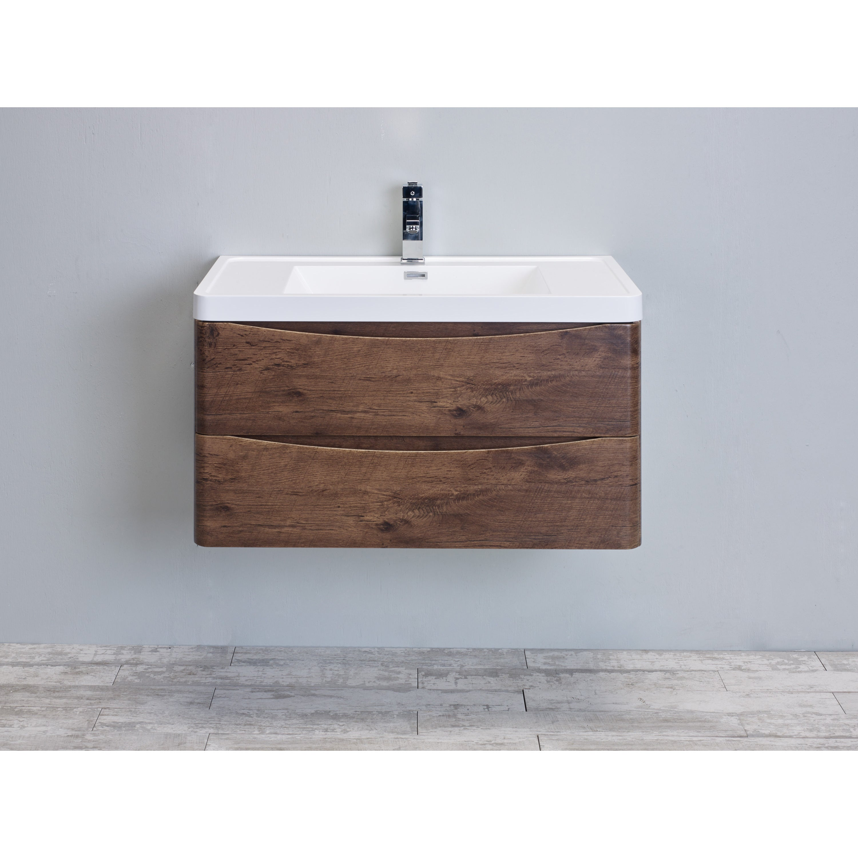 Charmant Eviva Smile 36 Inch Rosewood Modern Bathroom Vanity Set With Integrated  White Acrylic Sink