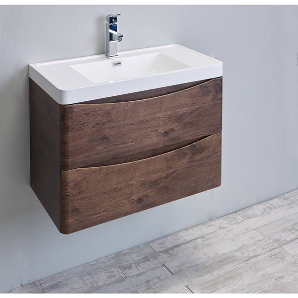 contemporary italian bathroom vanity set smile rosewood modern integrated white acrylic sink oslo 24 inch huntington