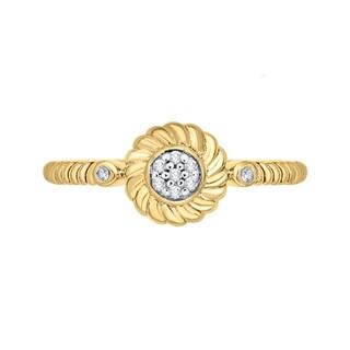 10k Yellow Gold Diamond Accent Fashion Ring