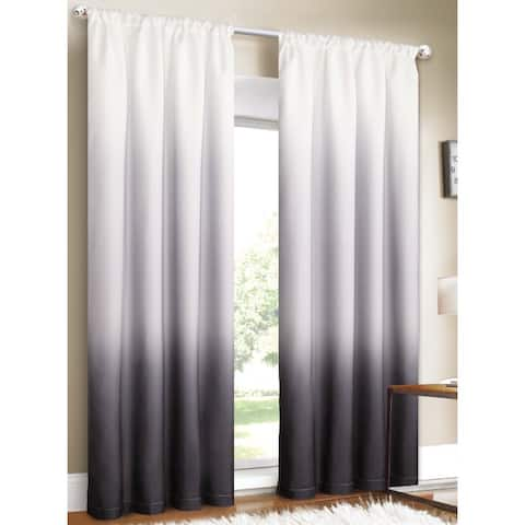 Silver Orchid Bard Shades Ombre Curtain Panel Pair - 80 x 84 - 80 x 84