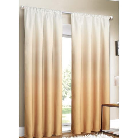 Silver Orchid Bard Shades Ombre Curtain Panel Pair - 80 x 84 - 80 x 84 - 80 x 84