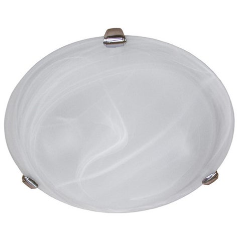 Y-Decor 3-light Flush-mount Satin Nickel Light Fixture