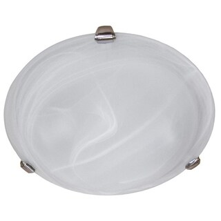 Y-Decor 3-light Flush-mount Satin Nickel Light Fixture
