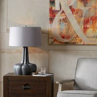 Ink+Ivy Calabazas Black Ceramic Base Table Lamp