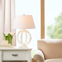 "Madison Park Signature Cerc Alabaster Ivory Table Lamp - 19Dx26H"""