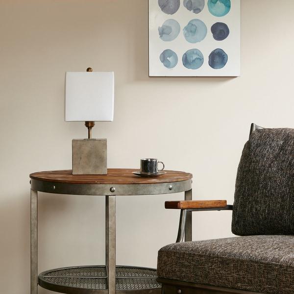 Ink+Ivy Quad Grey Accent Lamp