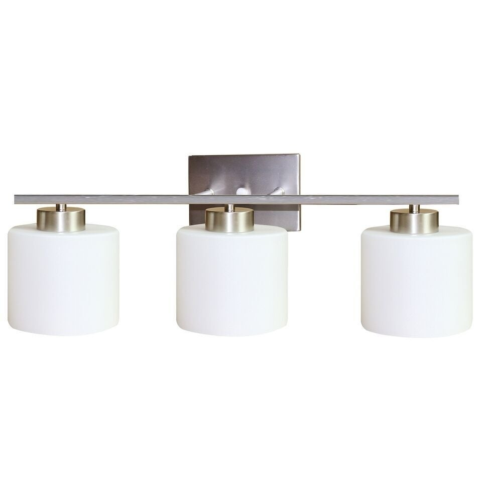 Y-Decor 'Fulton' Satin Nickel 3-light Vanity light (Three...