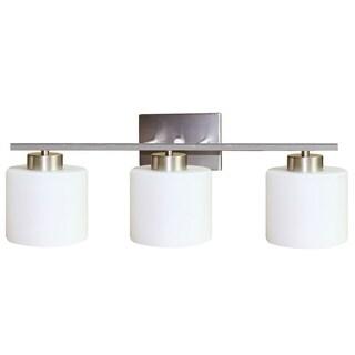 Y-Decor 'Fulton' Satin Nickel 3-light Vanity light