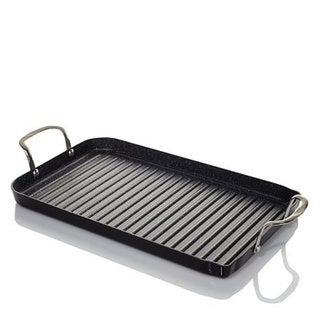curtis stone durapan nonstick double burner grill pan with 10 recipe cards free shipping on. Black Bedroom Furniture Sets. Home Design Ideas