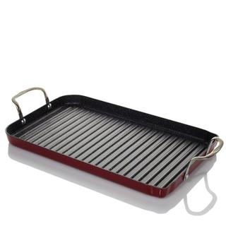Curtis Stone DuraPan Nonstick Double-burner Grill Pan with 10 Recipe Cards