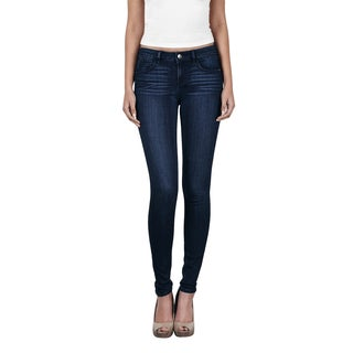 Hidden Women's Amelia Blue Dark Midnight Wash Cotton Blend Skinny Jeans