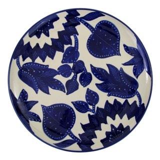 Le Souk Ceramique Jinane Design Round Stoneware Platter (Tunisia)