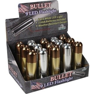 River's Edge 15-piece 9-LED Bullet Flashlight Display
