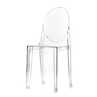 Clear Polycarbonate Stackable Armless Dining Chair