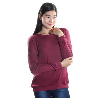 Hadari Women's Long Sleeve Round Neck Casual School Sweater