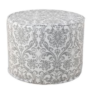 Abigail Storm Twill 20-inch Round Corded Foam Ottoman