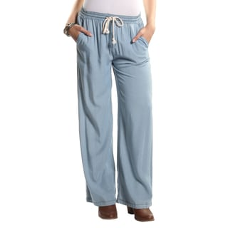 Hadari Women's Denim Casual Lounge Pants with Elastic String Waistline