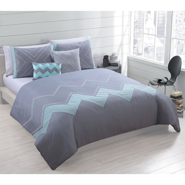 Brookhaven 5-piece Oversized and Overfilled Embroidered Comforter Set