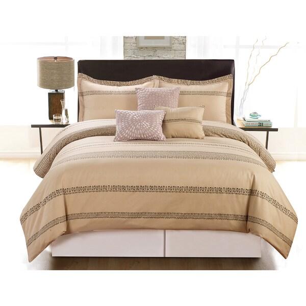 Streak Linen Luxurious 6-Piece Comforter Set