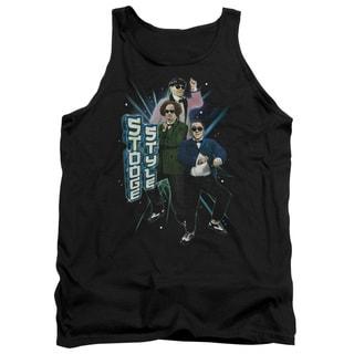Three Stooges/Stooge Style Adult Tank in Black