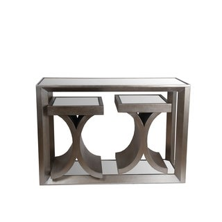 Privilege Grey Wood 3-piece Accent Tables