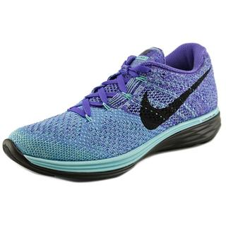 Nike Women's Flyknit Lunar 3 Blue Synthetic Athletic Shoes