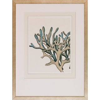 Art Virtuoso FabFunky 'Blue Underwater Scenes' Antique Silver Wooden-framed Giclee Art Print