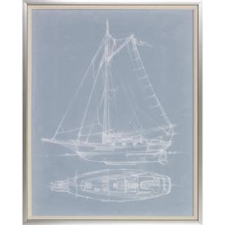 Yacht Sketches' Giclee-print Framed Wall Art