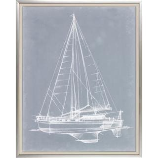Yacht Sketches Framed Art Print