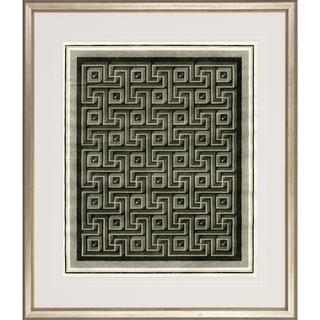 'Optical Illusion' Antique Silver Finish Framed Art Print
