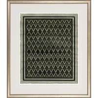 'Optical Illusion' Antique Silver Finish Wood-framed Fine Art Giclee Print
