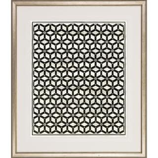 Optical Illusion Silver-colored Wood Framed Art Print
