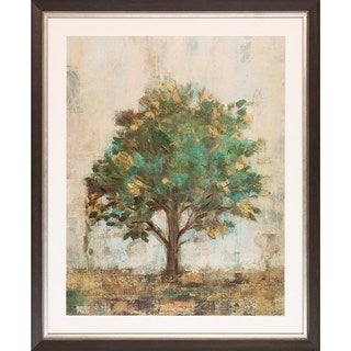 Art Virtuoso Silvia Vassileva 'Verdi Trees' Wooden-framed Art Print