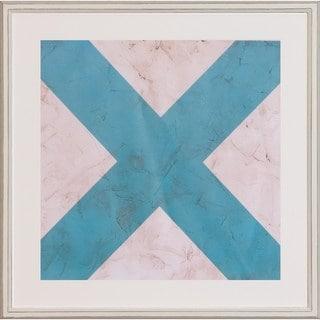 'Seaside Signal Flags' Framed Art Print