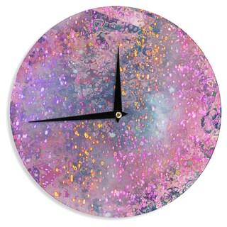 KESS InHouse Marianna Tankelevich 'Pink Universe' Pink Purple Wall Clock