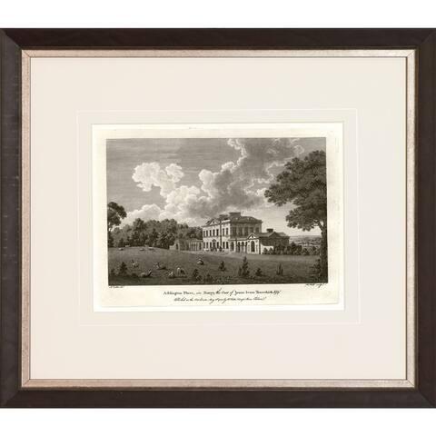 Watt 'Views in Sepia' Framed Art Print - Walnut Finish and Antique Silver Inner Scoop