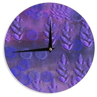 KESS InHouse Marianna Tankelevich 'Summer Night' Purple Lavender Wall Clock