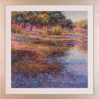 Art Virtuoso 'Sunlit Pond' by Susan Sarback Framed Art Print