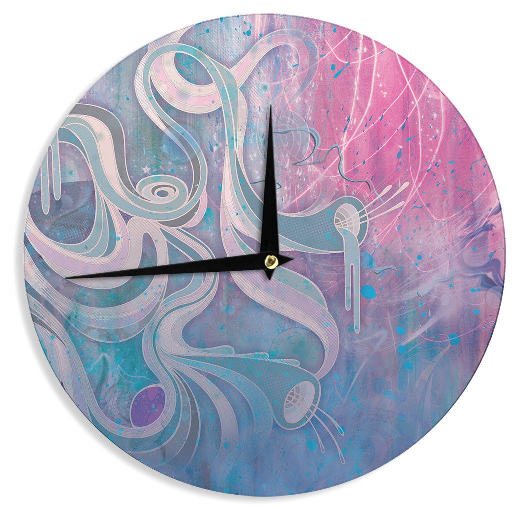 Kess InHouse Mat Miller 'Electric Dreams' Wall Clock (Ele...