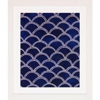 Indigo Pattern Framed Art Print