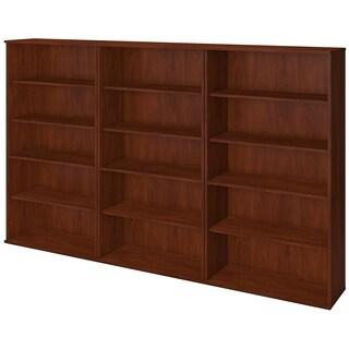 Bush Business Furniture Series C Elite 66H Hansen Cherry Bookcase Storage Wall