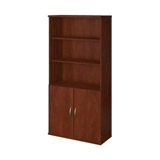 Bush Business Furniture Hansen Cherry 36-inch-wide 5-shelf Bookcase With Doors