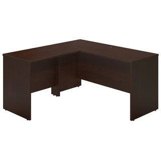 Series C Elite 60W x 24D Desk Shell with 36W Return in Mocha Cherry