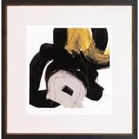 Art Virtuoso June Erica Vess 'Chromatic Impulse' Black Wood Framed Canvas Art Print