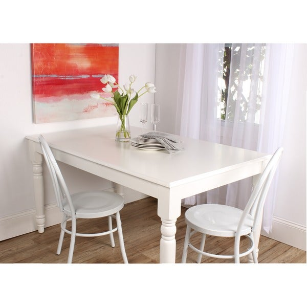 Turin Wood Dining Table Or Oversized Work Table With Farmhouse Legs   Free  Shipping Today   Overstock.com   19329471