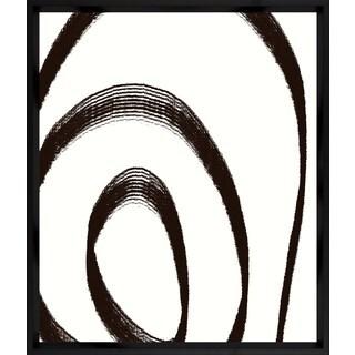 'Black Lines' Framed Art Print