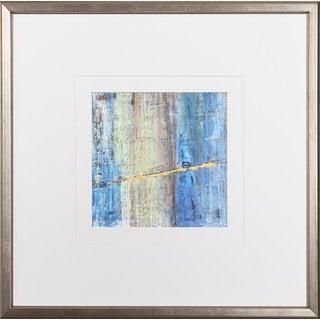 Dlynn Roll's 'More or Less' Multicolored Wood Framed Art Print