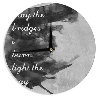 KESS InHouse Skye Zambrana 'Bridges' Wall Clock
